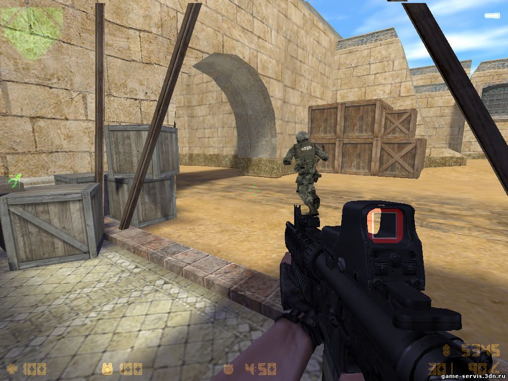 Скачать - Counter-Strike v.1.6 (Version Pack 4) (531 МБ)